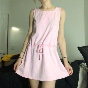 tie waist vintage mini dress